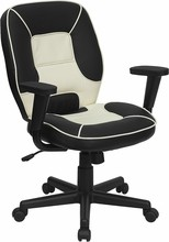 Flash Furniture BT-2922-BK-GG Mid Back Black Multi-Colored Task Chair