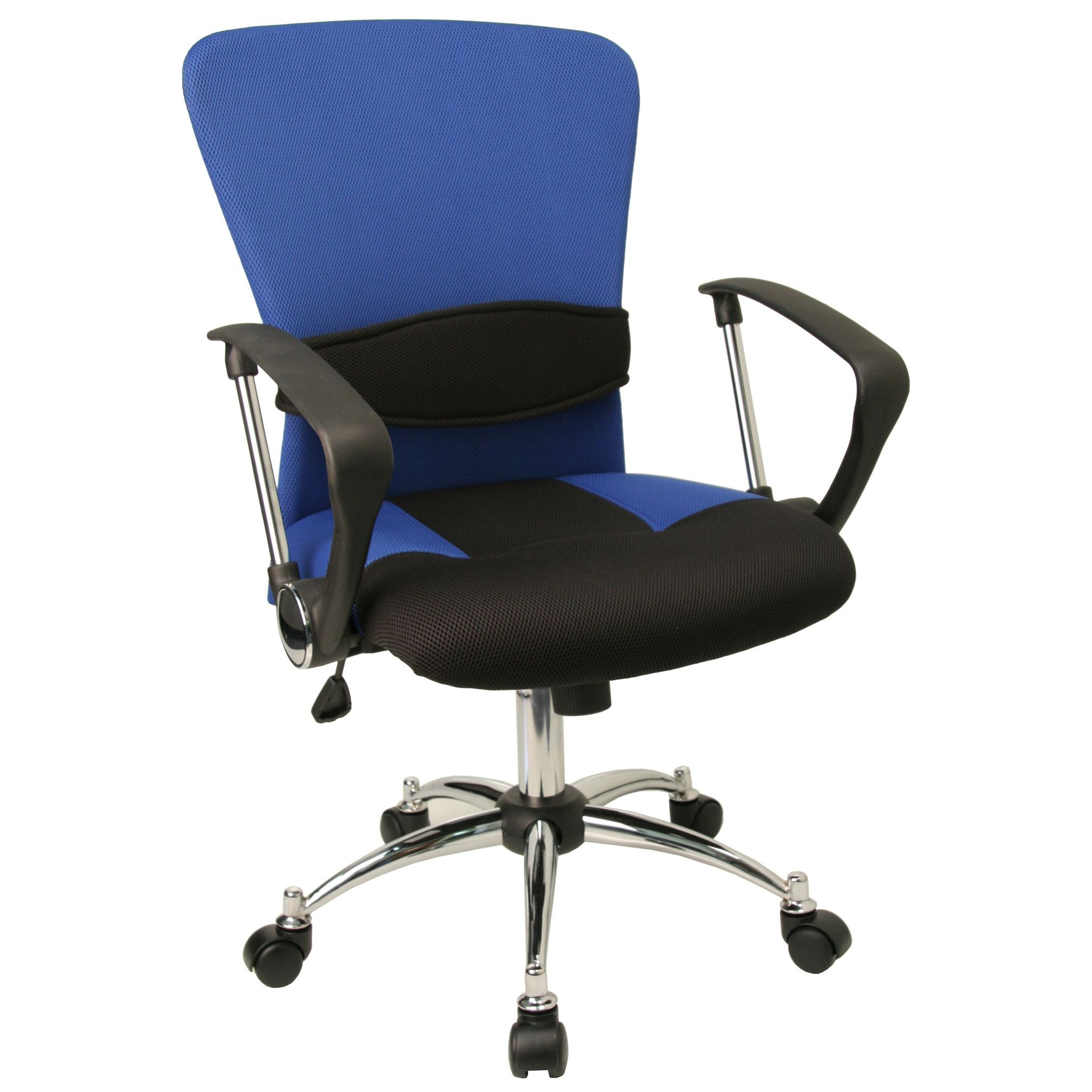 Flash Furniture LF-W23-BLUE-GG Mid-Back Blue Mesh Chair