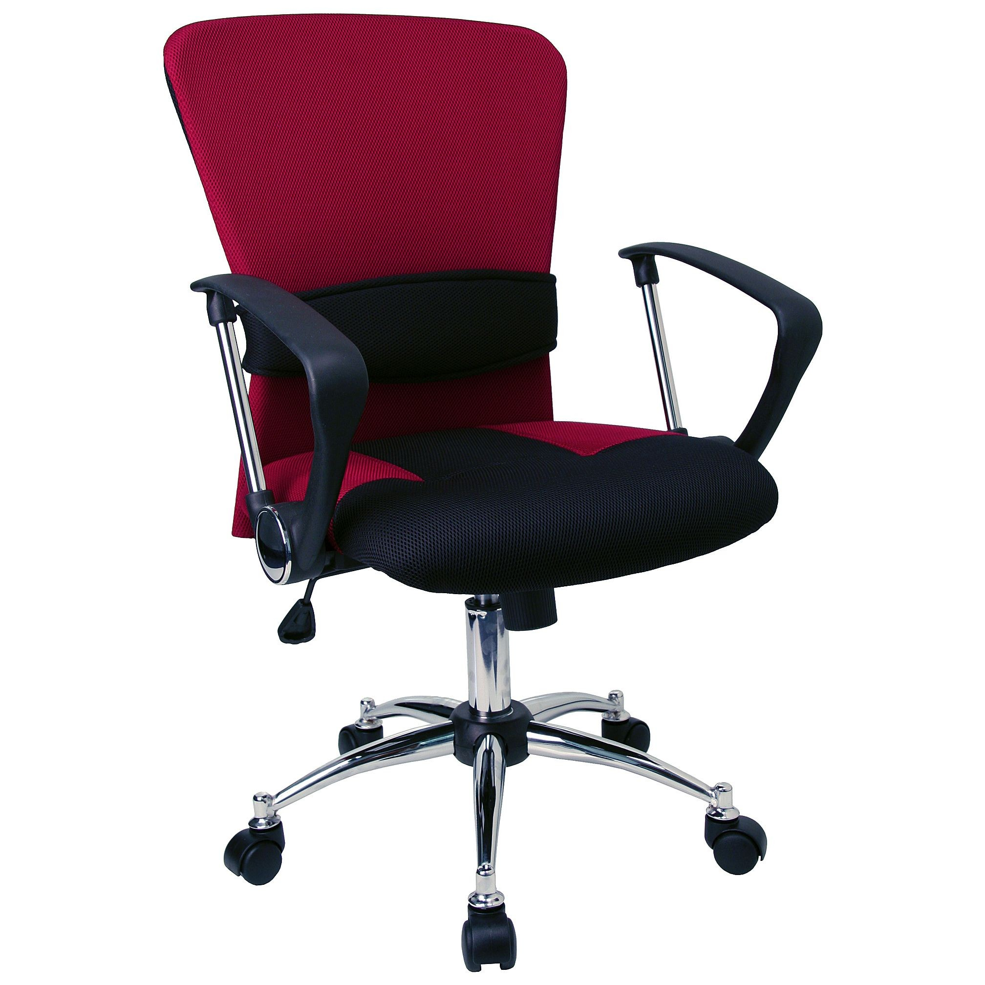 Flash Furniture LF-W23-RED-GG Mid-Back Burgundy Mesh Chair