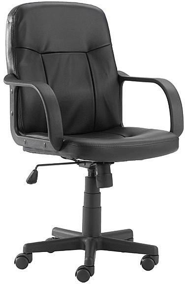 Flash Furniture H8020-GG Mid-Back Black Glove Vinyl Executive Office Chair