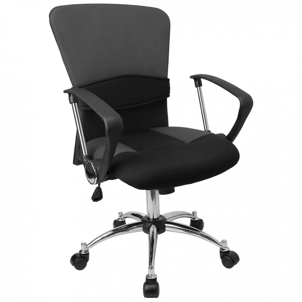 Mid-Back Grey Mesh Office Chair