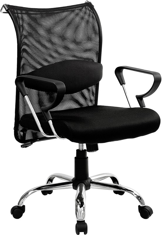 Flash Furniture BT-2905-GG Mid-Back Manager's Chair with Mesh Back and Padded Mesh Seat