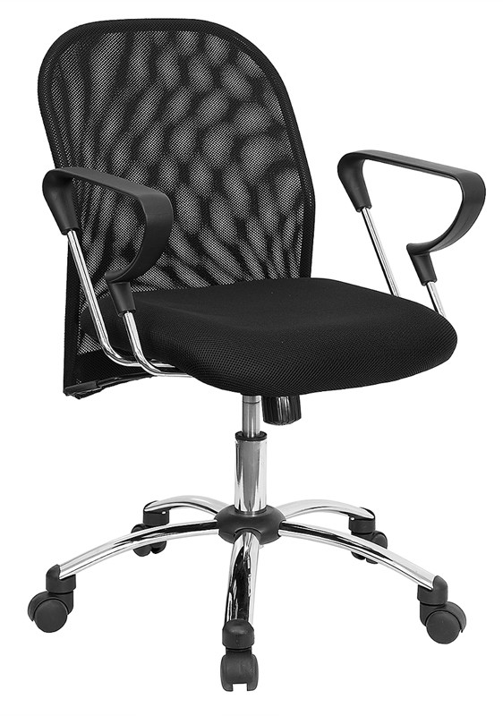 Flash Furniture BT-215-GG Mid-Back Mesh Office Chair with Chrome Base