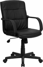 Mid-back Black Leather Executive Office Chair