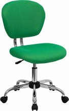 Flash Furniture H-2376-F-BRGRN-GG Mid-Back Bright Green Mesh Task Chair with Chrome Base