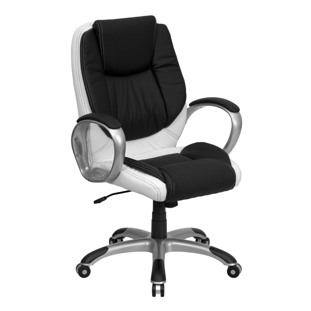 Flash Furniture CH-CX0217M-GG Mid-back Multi-Colored Leather Executive Swivel Office Chair