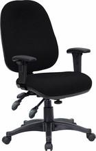 Flash Furniture BT-662-BK-GG Mid-Back Multi-Functional Black Fabric Swivel Computer Chair
