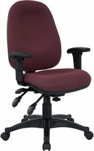 Mid-back Multi-Functional Burgundy Fabric Swivel Computer Chair