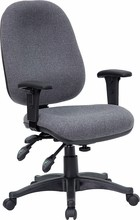 Flash Furniture BT-662-GY-GG Mid-Back Multi-Functional Gray Fabric Swivel Computer Chair