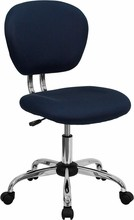 Mid-back Navy Blue Mesh Task Chair with Chrome Base