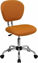 Flash Furniture H-2376-F-ORG-GG Mid-Back Orange Mesh Task Chair with Chrome Base