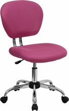 Flash Furniture H-2376-F-PINK-GG Mid-Back Pink Mesh Task Chair with Chrome Base