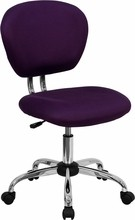 Mid-back Purple Mesh Task Chair with Chrome Base