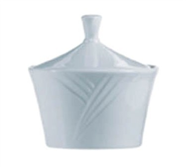 "Cardinal S0616 Arcoroc Horizon 8 oz. Covered Sugar Bowl, 4"" Dia."
