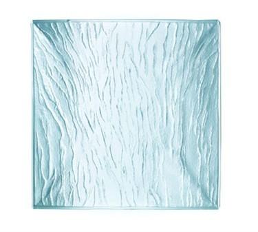 """Cardinal C3053 Minerali Square Clear Glass Dessert Plate 7-1/4"""" Dia."""