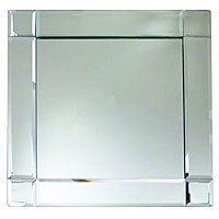 """Jay Companies 1330052 Square Mirror Glass 13"""" Charger Plate"""