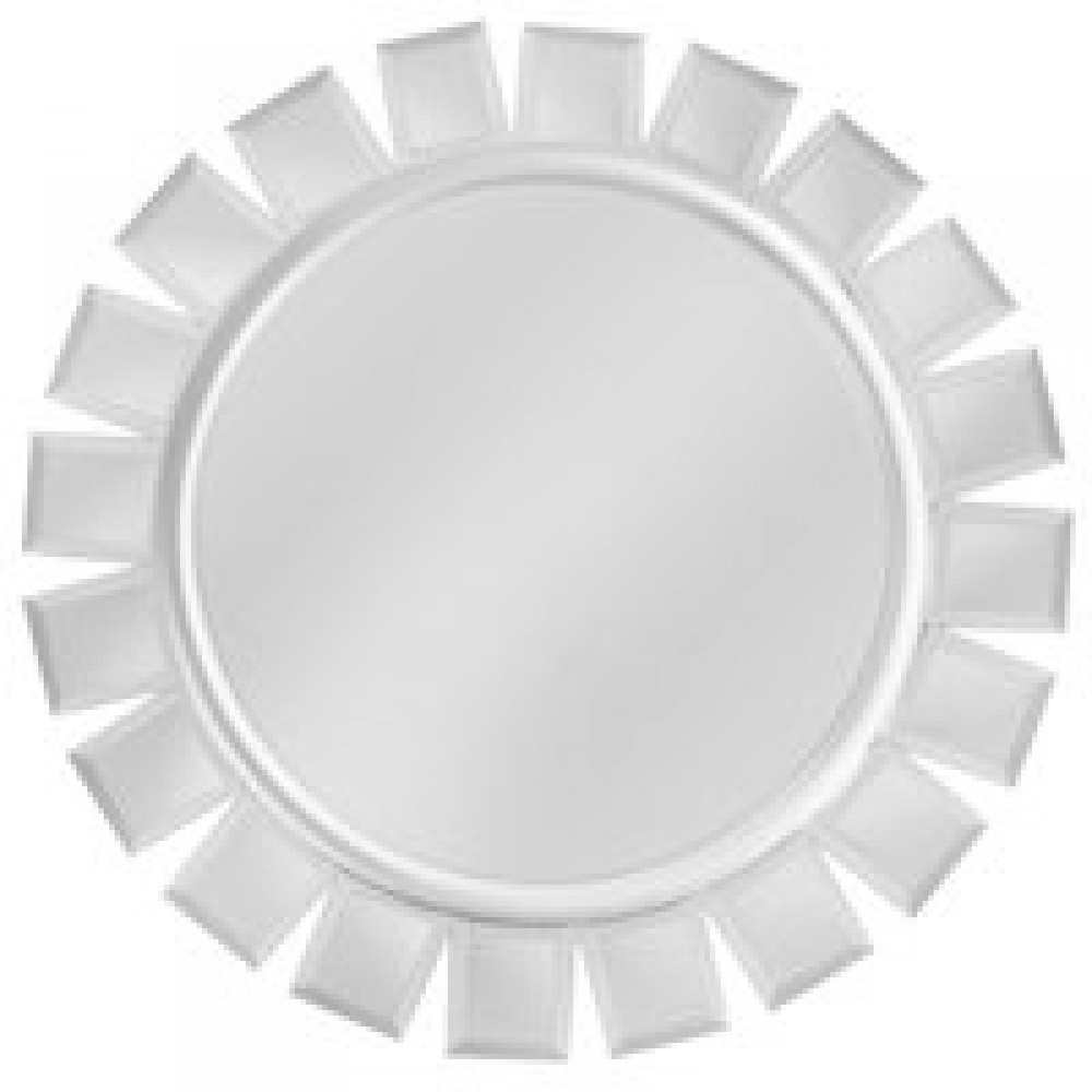 "Jay Import 1331732 Mirror Glass 13"" Charger Plate with Silver Accents"