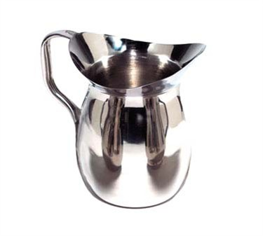 TableCraft 203 Stainless Steel 3 Qt.Bell Water Pitcher with Mirror Finish