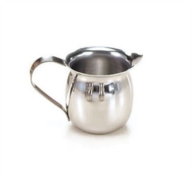 TableCraft 2303 Stainless Steel 3 oz. Bell Creamer, Mirror Finish