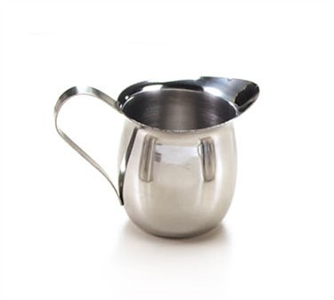 Mirror Finish Stainless Steel Bell-Shaped 5 Oz. Classic Creamer