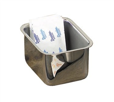 TableCraft 58MF Mirror Finish Stainless Steel Sugar Packet Holder