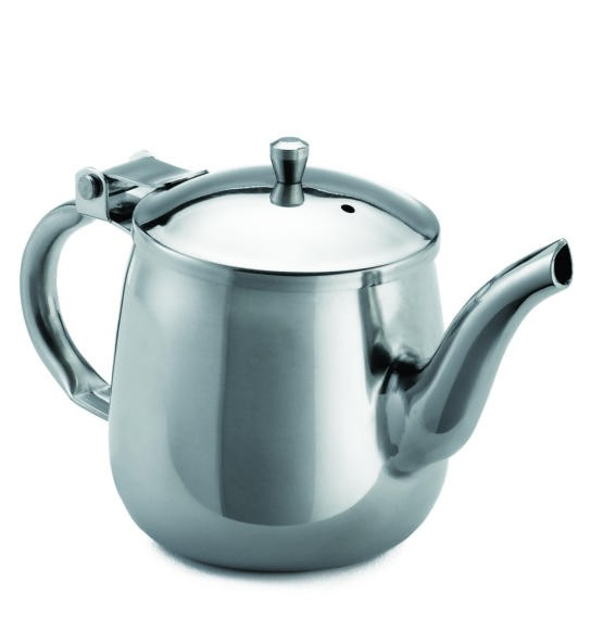 TableCraft GN10 Stainless Steel 10 oz. Gooseneck Teapot with Mirror Finish