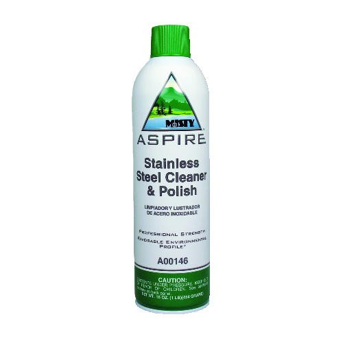 Misty Aspire Stainless Steel Cleaner & Polish, Aerosol Cans