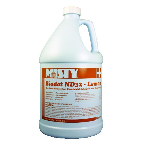 Misty Biodet ND32 Liquid Disinfectant, Gallon, Lemon Scent
