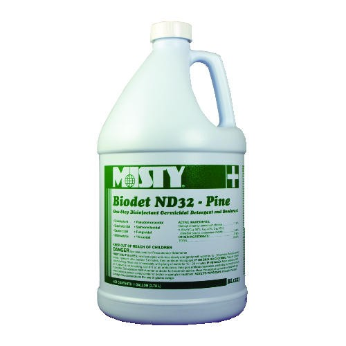Misty Biodet ND32 Liquid Disinfectant, Gallon, Pine