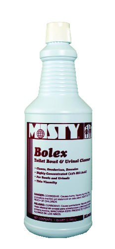 Misty Bolex 23 Percent Hydrochloric Acid Bowl Cleaner, 32 oz. Bottle, 12/Carton