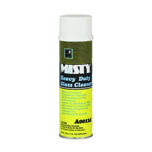Misty Heavy Duty Glass Cleaner, 20 Oz, Aerosol, Lemon