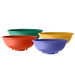 Mix Pack of 4 Mardi Gras Colors Melamine 24 oz. (34.7 oz. Rim-Full), 7.5