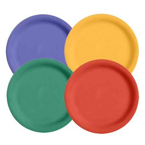 Mix Pack of 4 Mardi Gras Colors Melamine 6.5