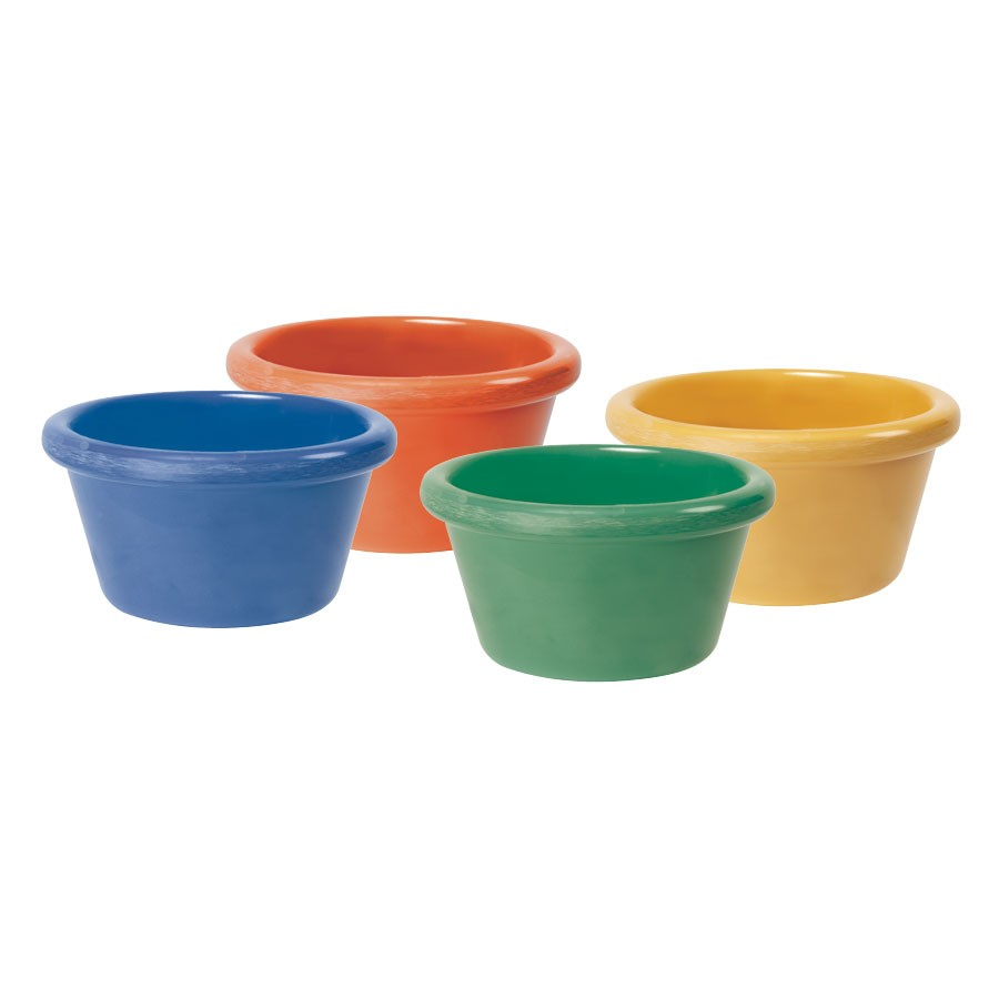 Mix Pack of 4 Mardi Gras Colors Melamine 4 oz., 3.25
