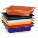 "G.E.T. Enterprises ML-18-BUI Mix Pack of 6 Colors Melamine 12-1/2"" x 10-1/4"" Half Size Insert Pan"