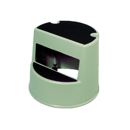 2-Step Rolling Step Stool, Curved, 16