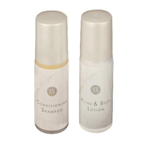 Moisture Rich Hand & Body Lotion Bottle, White Marble, 288/.75 Oz