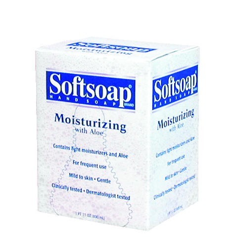 Moisturizing Soap w/Aloe, Unscented Liquid, Dispenser, 800ml, 12/Carton