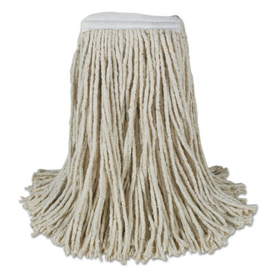 Mop Head, Cotton, Cut-End, White, 4-Ply, 32oz, 12/Carton