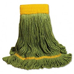 EcoMop Looped-End Mop Head, Recycled Fibers, X-Large, Green