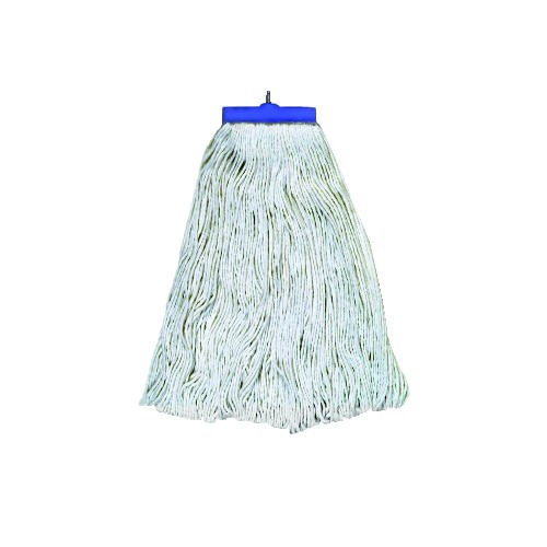 Mop Head, Lieflat Head, Rayon Fiber, 24-Oz., White