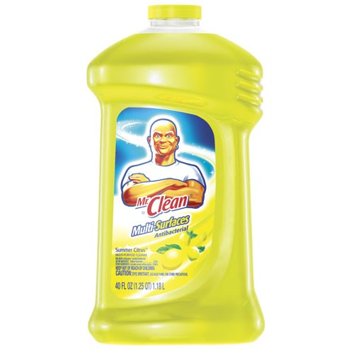 Mr. Clean Anti-Bacterial Liquid, 40 Oz Bottles