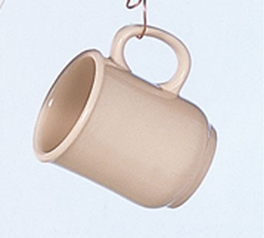 Thunder Group ML901T Nustone Tan Bulbous Mug With Handle, 8 oz.