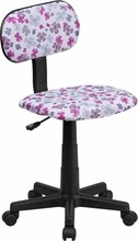 Multi-Colored Flower Printed Computer Chair