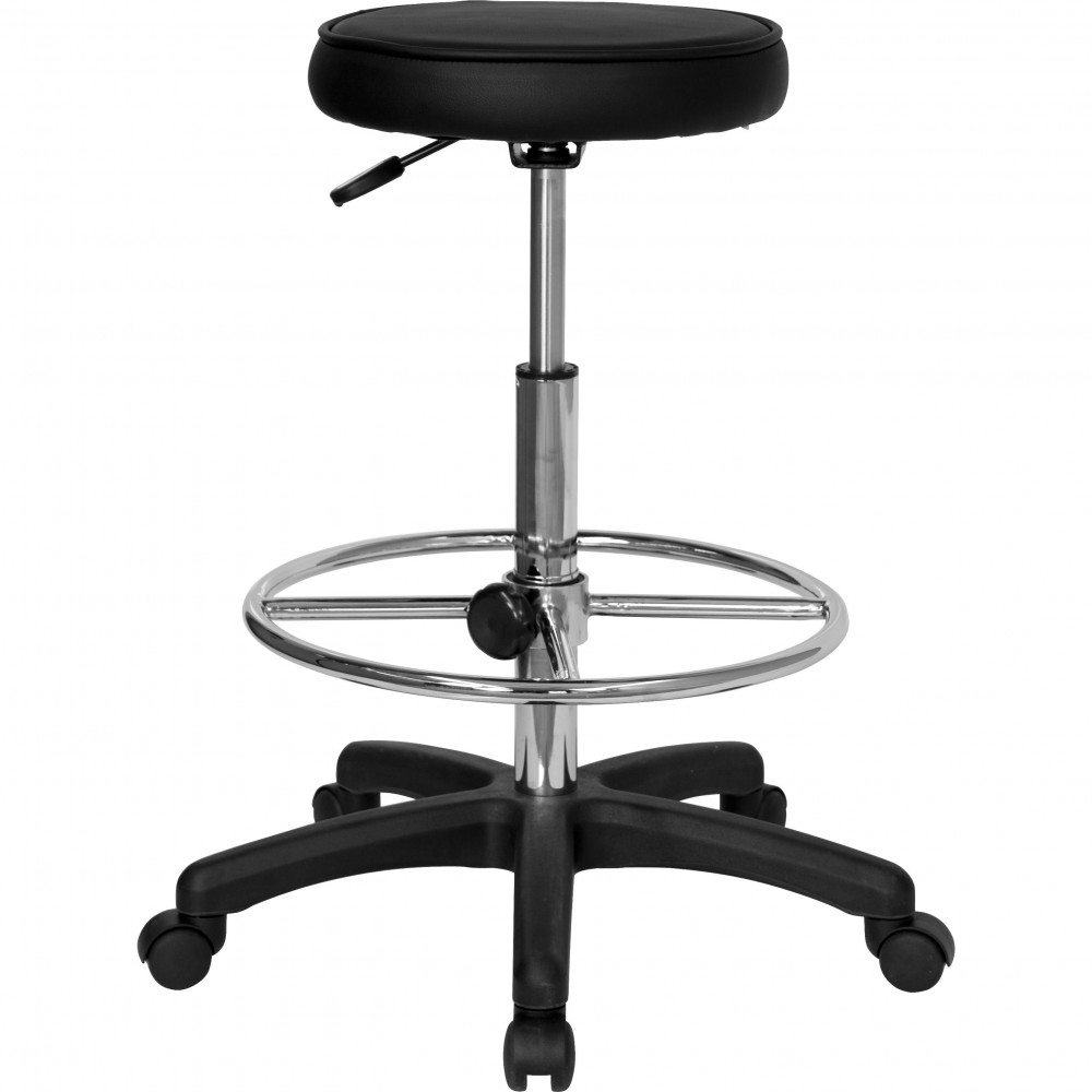 Flash Furniture kc96kg-gg Multi Function Drafting Stool with Adjustable Foot Ring