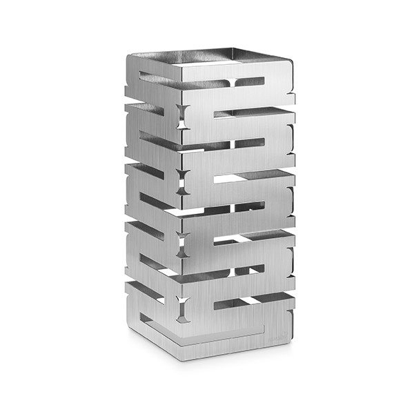 "Rosseto SM227 Skycap Stainless Steel Finish Square Multi-Level Riser 8"" x 8"" x 18""H"