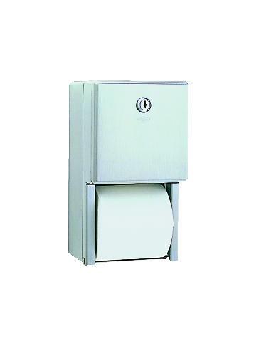 Two-Roll Toliet Tissue Dispenser, 5-1/4