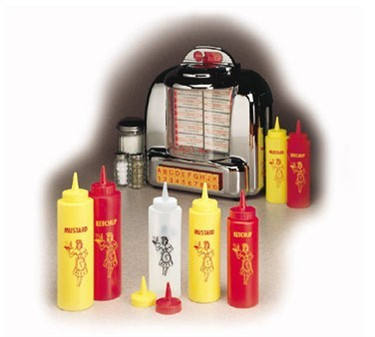 TableCraft 1112M Yellow Nostalgia 12 oz. Mustard Dispenser