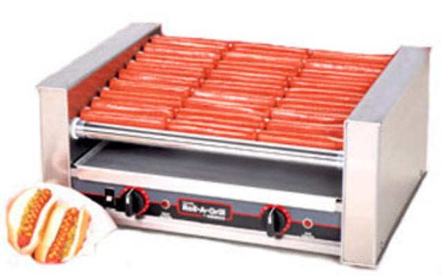 Nemco 8027-SLT Slanted 27-Hot Dog Roller Grill, 120V