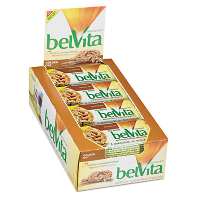 Nabisco belVita Golden Oat Breakfast Biscuits, 1.76 oz Pack, 64/Carton
